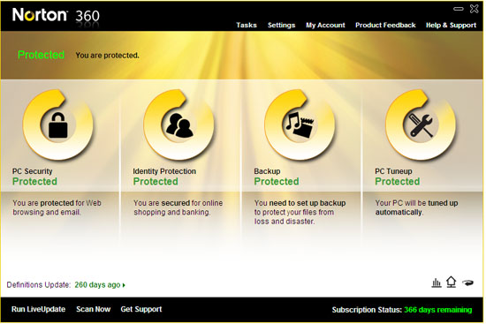 Installing Norton 360, causes BSOD on re-start