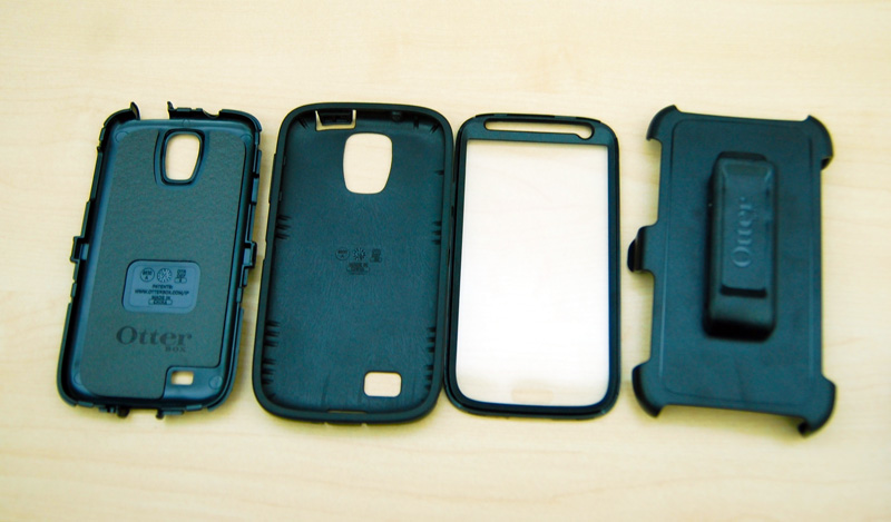 The Case with its Layers and Holster