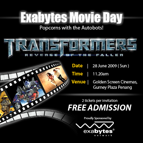 Exabytes Transformers 2 Movie Day Invitation