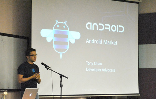 Tony Chan sharing valuable insights on Android Market.